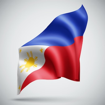 Philippines, vector 3d flag isolated on white background