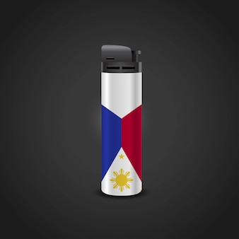 Phillipines flag lighter design vector