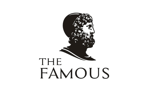 Philosopher face / head statue