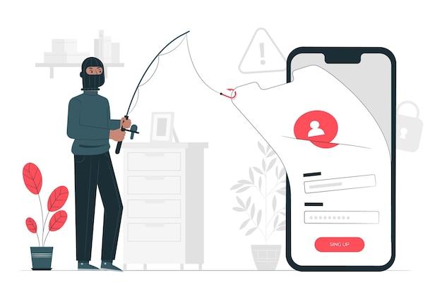 Phishing account concept illustration