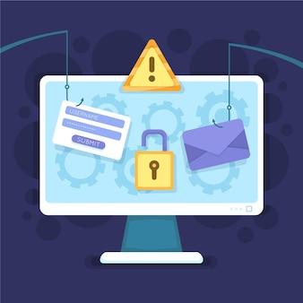 Phishing account concept
