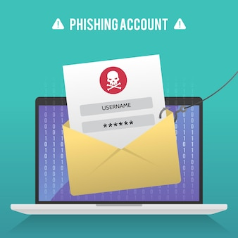 Concetto di account di phishing