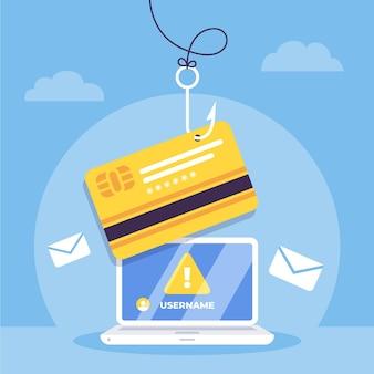Concetto di account di phishing Vettore gratuito