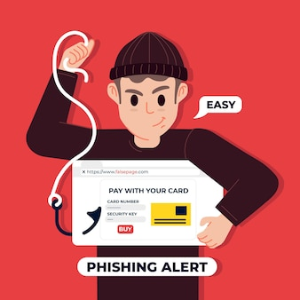 Phishing account concept