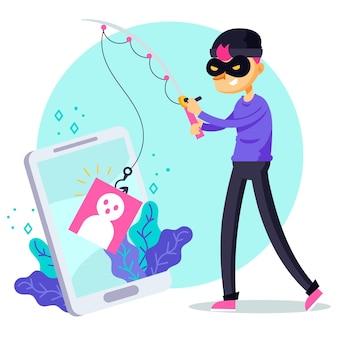 Concetto di account di phishing