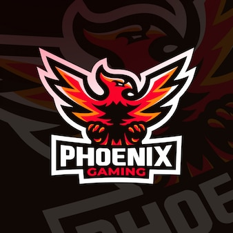 Phoenix bird gaming esport logo mascot