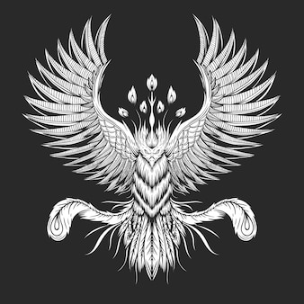 Иллюстрация птица феникс