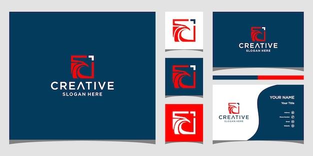Дизайн логотипа птицы феникс с шаблоном визитной карточки
