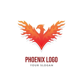 Phoenix bird modern logo design