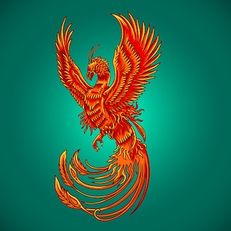 Phoenix bird new year vector