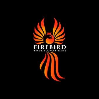 Логотип птицы птицы феникс, эмблема птицы граната.