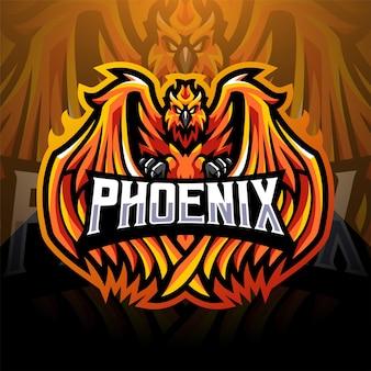Phoenix esport mascot logo design
