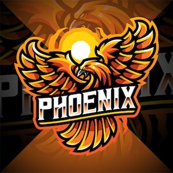 Феникс киберспорт дизайн логотипа талисмана