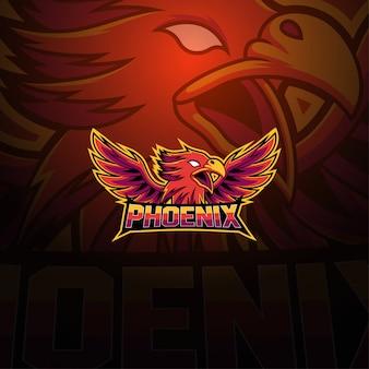 Phoenix esport талисман логотип