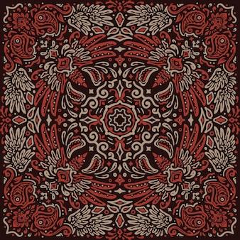 The phoenix fire bird vintage pattern bandana
