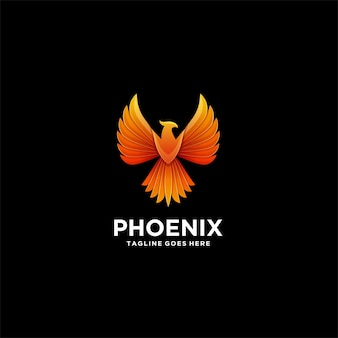Phoenix geometric colorful illustration  logo.