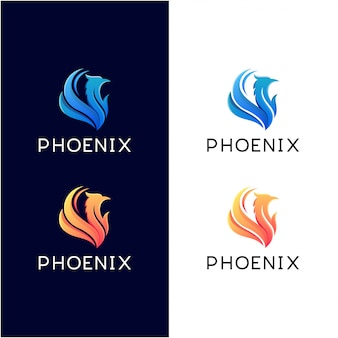 Phoenix gradient logo set