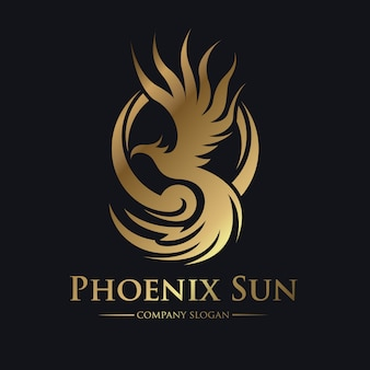 Phoenix logo, eagle and bird logo symbol. vector logo template.