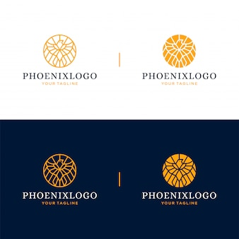 Phoenix logo and icon design concept.