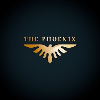 Феникс логотип дизайн шаблона