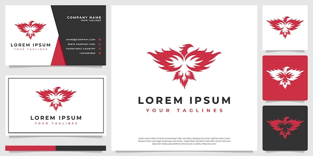 Логотип phoenix в современном минималистском стиле