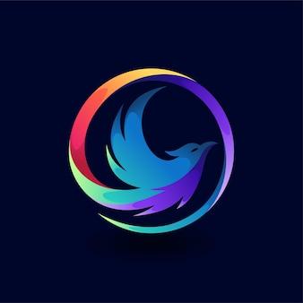 그라디언트 색상 개념의 피닉스 로고