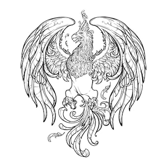 Феникс или волшебное существо феникс из древнегреческих мифов.