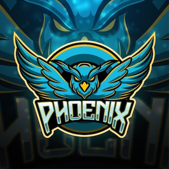 Дизайн логотипа талисмана феникса