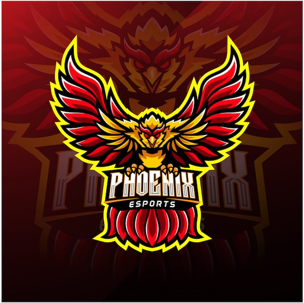 Phoenix sport mascot logo