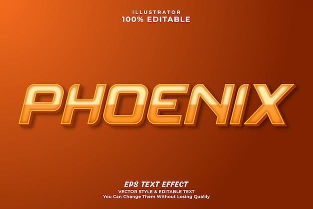 Phoenix text effect style premium Premium Vector