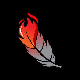 Phoenix vector modern fire bird feather illustration