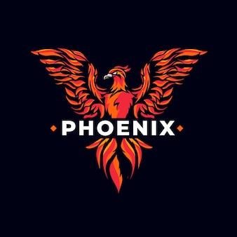 Креативный мощный логотип phoenix