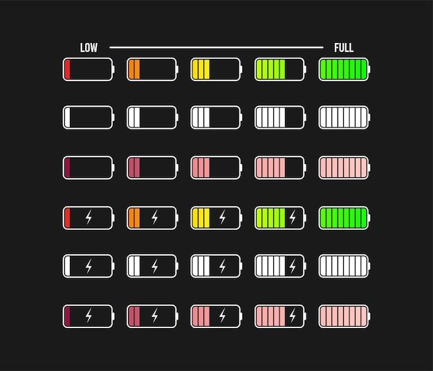 Phone battery charge symbols