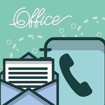 Phone book and email letter paper office