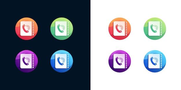 Phone book icon set