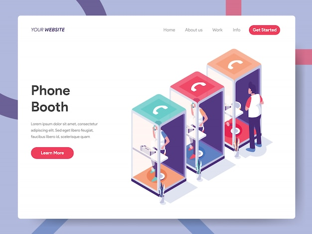 Phone booth landing page