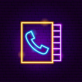 Phone call book neon sign. vector illustration of business promotion.