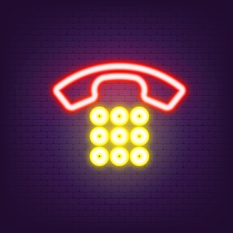 Phone call icon neon. call the icon page symbol for your website design. icon calling logo, app, user interface. vector eps 10.
