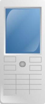 Phone front view simple vector