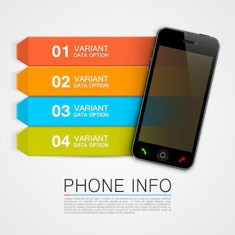 電話情報バナーアートバナー。ベクトルイラスト