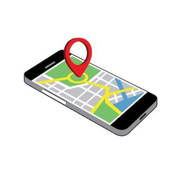 Phone navigation clipart vector