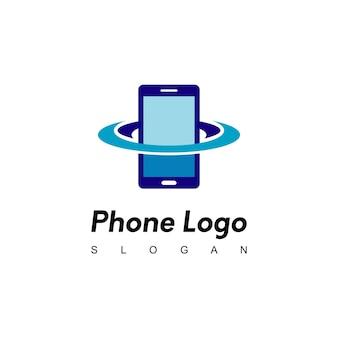 전화 행성 로고 디자인 영감
