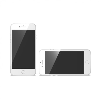 Phone set mockup vector
