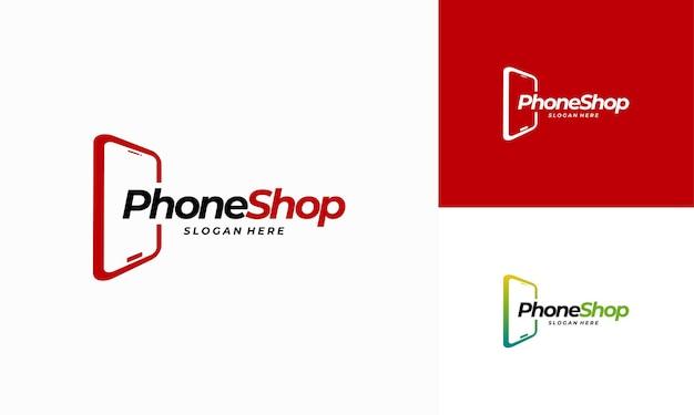 전화 가게 로고 디자인, 현대 전화 로고 디자인 벡터 아이콘