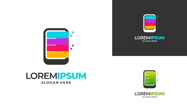 전화 가게 로고 디자인, 현대 전화 작업 로고 디자인 벡터 아이콘