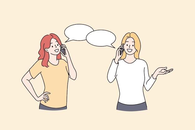 전화 통화 통신 채팅 개념