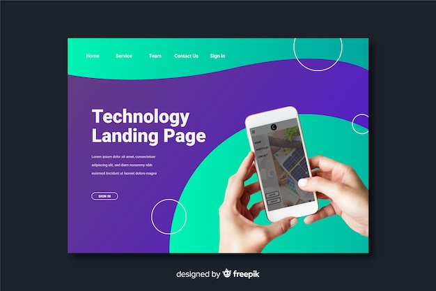 Phone technology landing page