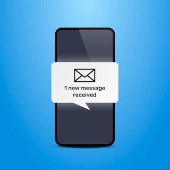 電話のテキストメッセージチャットフレーム。ベクトルイラスト