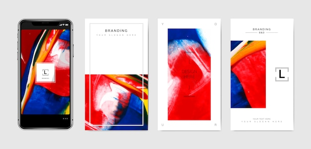 Phone wallpaper templates