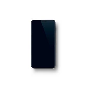 Телефон с черным экраном, объектная электроника. векторная иллюстрация